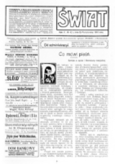 Świat : [pismo tygodniowe ilustrowane poświęcone życiu społecznemu, literaturze i sztuce. R. 5 (1910), nr 42 (15 października)