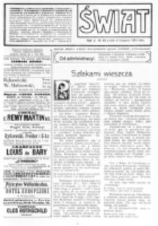 Świat : [pismo tygodniowe ilustrowane poświęcone życiu społecznemu, literaturze i sztuce. R. 5 (1910), nr 45 (5 listopada)