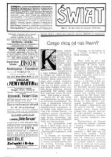 Świat : [pismo tygodniowe ilustrowane poświęcone życiu społecznemu, literaturze i sztuce. R. 5 (1910), nr 48 (26 listopada)