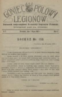 Goniec Polowy Legionów. 1915, nr 7 (6 lipca)