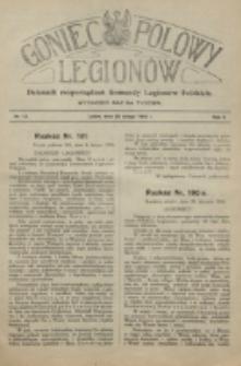 Goniec Polowy Legionów. 1916, nr 13 (25 lutego)