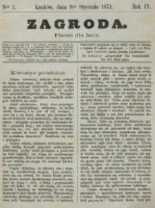 Zagroda : pismo dla ludu. R. 4, nr 1 (8 stycznia 1874)