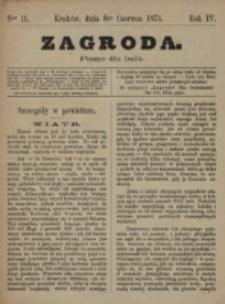 Zagroda : pismo dla ludu. R. 4, nr 11 (8 czerwca 1874)