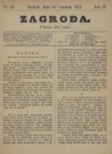 Zagroda : pismo dla ludu. R. 4, nr 23 (8 grudnia 1874)