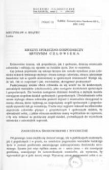 Kryzys społeczno-gospodarczy kryzysem człowieka / Mieczysław A. Krąpiec.