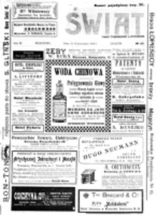 Świat : [pismo tygodniowe ilustrowane poświęcone życiu społecznemu, literaturze i sztuce. R. 3 (1908), nr 43 (24 października)