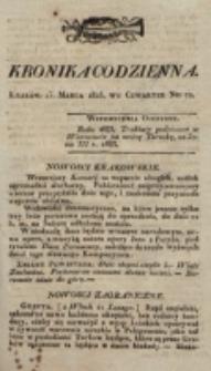Kronika Codzienna. 1823, nr 72 (13 marca)