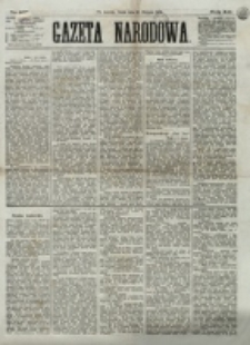 Gazeta Narodowa. R. 12, nr 197 (20 sierpnia 1873)