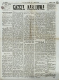Gazeta Narodowa. R. 12, nr 207 (31 sierpnia 1873)