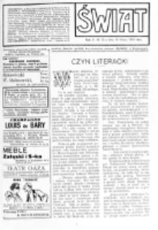 Świat : [pismo tygodniowe ilustrowane poświęcone życiu społecznemu, literaturze i sztuce. R. 5 (1910), nr 12 (19 marca)