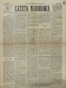 Gazeta Narodowa. R. 12, nr 284 (30 listopada 1873)