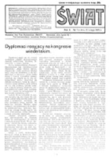 Świat : pismo tygodniowe ilustrowane poświęcone życiu społecznemu, literaturze i sztuce. R. 10 (1915), nr 7 (13 lutego)