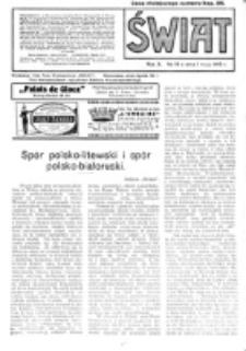 Świat : pismo tygodniowe ilustrowane poświęcone życiu społecznemu, literaturze i sztuce. R. 10 (1915), nr 18 (1 maja)