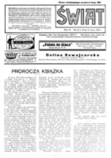 Świat : pismo tygodniowe ilustrowane poświęcone życiu społecznemu, literaturze i sztuce. R. 10 (1915), nr 20 (15 maja)