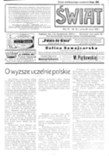 Świat : pismo tygodniowe ilustrowane poświęcone życiu społecznemu, literaturze i sztuce. R. 10 (1915), nr 22 (29 maja)