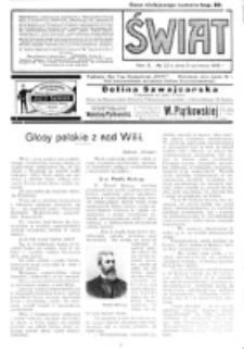 Świat : pismo tygodniowe ilustrowane poświęcone życiu społecznemu, literaturze i sztuce. R. 10 (1915), nr 23 (5 czerwca)