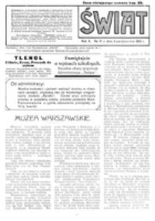 Świat : pismo tygodniowe ilustrowane poświęcone życiu społecznemu, literaturze i sztuce. R. 10 (1915), nr 41 (9 października)