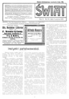 Świat : pismo tygodniowe ilustrowane poświęcone życiu społecznemu, literaturze i sztuce. R. 10 (1915), nr 49 (4 grudnia)