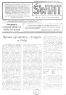 Świat : pismo tygodniowe ilustrowane poświęcone życiu społecznemu, literaturze i sztuce. R. 11 (1916), nr 2 (8 stycznia)
