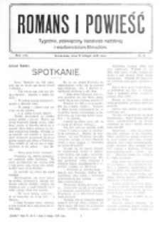 Romans i Powieść. R. 8, nr 6 (5 lutego 1916)