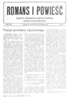 Romans i Powieść. R. 8, nr 5 (29 stycznia 1916)