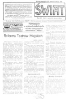 Świat : pismo tygodniowe ilustrowane poświęcone życiu społecznemu, literaturze i sztuce. R. 11 (1916), nr 5 (29 stycznia)