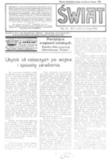 Świat : pismo tygodniowe ilustrowane poświęcone życiu społecznemu, literaturze i sztuce. R. 11 (1916), nr 7 (12 lutego)