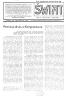 Świat : pismo tygodniowe ilustrowane poświęcone życiu społecznemu, literaturze i sztuce. R. 11 (1916), nr 10 (4 marca)