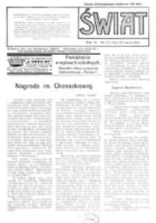 Świat : pismo tygodniowe ilustrowane poświęcone życiu społecznemu, literaturze i sztuce. R. 11 (1916), nr 13 (25 marca)