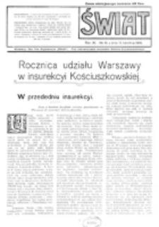 Świat : pismo tygodniowe ilustrowane poświęcone życiu społecznemu, literaturze i sztuce. R. 11 (1916), nr 16 (15 kwietnia)
