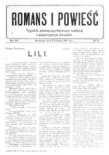 Romans i Powieść. R. 8, nr 15 (8 kwietnia 1916)