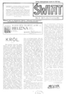 Świat : pismo tygodniowe ilustrowane poświęcone życiu społecznemu, literaturze i sztuce. R. 11 (1916), nr 17 (22 kwietnia)
