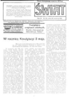 Świat : pismo tygodniowe ilustrowane poświęcone życiu społecznemu, literaturze i sztuce. R. 11 (1916), nr 18 (29 kwietnia)