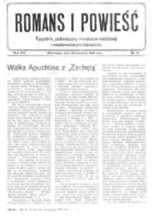 Romans i Powieść. R. 8, nr 18 (29 kwietnia 1916)