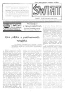 Świat : pismo tygodniowe ilustrowane poświęcone życiu społecznemu, literaturze i sztuce. R. 11 (1916), nr 20 (13 maja)