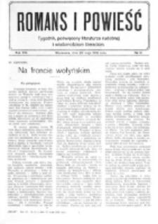 Romans i Powieść. R. 8, nr 21 (20 maja 1916)
