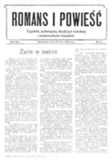 Romans i Powieść. R. 8, nr 31 (29 lipca 1916)