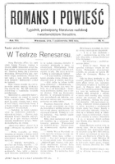 Romans i Powieść. R. 8, nr 41 (7 października 1916)