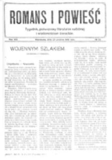 Romans i Powieść. R. 8, nr 52 (23 grudnia 1916)