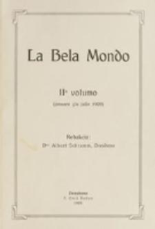 La Bela Mondo. Vol. 2 (januaro ĝis julio 1909)