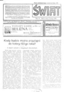 Świat : pismo tygodniowe ilustrowane poświęcone życiu społecznemu, literaturze i sztuce. R. 11 (1916), nr 6 (5 lutego)