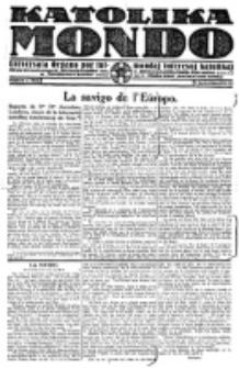 Katolika Mondo : sendependa oficiala organo por tutmondaj interesoj katolikaj : gazeto de Internacio Katolika. Jarkolekto 1, numero 3