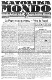 Katolika Mondo : sendependa oficiala organo por tutmondaj interesoj katolikaj : gazeto de Internacio Katolika. Jarkolekto 1, numero 7