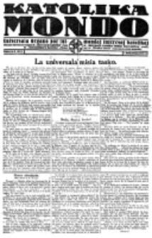 Katolika Mondo : sendependa oficiala organo por tutmondaj interesoj katolikaj : gazeto de Internacio Katolika. 1921, Jarkolekto 1, numero 8