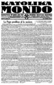 Katolika Mondo : sendependa oficiala organo por tutmondaj interesoj katolikaj : gazeto de Internacio Katolika. Jarkolekto 2, numero 2