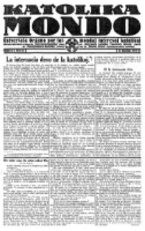 Katolika Mondo : sendependa oficiala organo por tutmondaj interesoj katolikaj : gazeto de Internacio Katolika. Jarkolekto 2, numero 4