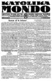 Katolika Mondo : sendependa oficiala organo por tutmondaj interesoj katolikaj : gazeto de Internacio Katolika. Jarkolekto 2, numero 6