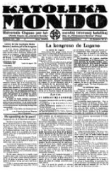 Katolika Mondo : sendependa oficiala organo por tutmondaj interesoj katolikaj : gazeto de Internacio Katolika. Jarkolekto 4, numero 6/7