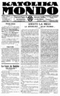 Katolika Mondo : sendependa oficiala organo por tutmondaj interesoj katolikaj : gazeto de Internacio Katolika. Jarkolekto 7, numero 2
