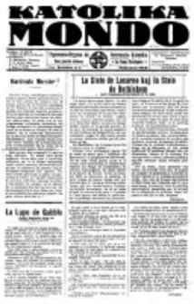 Katolika Mondo : sendependa oficiala organo por tutmondaj interesoj katolikaj : gazeto de Internacio Katolika. Jarkolekto 7, numero 3